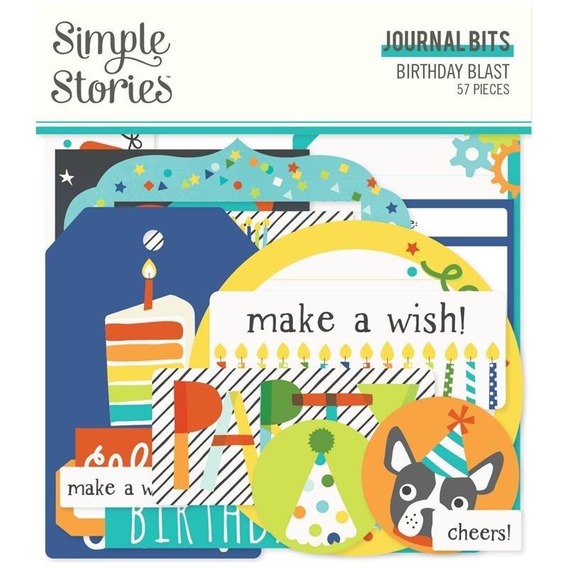 Die cuts Journal Birthday Blast Simple Stories