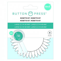 Button Press Rosetas tamaño grande 58mm