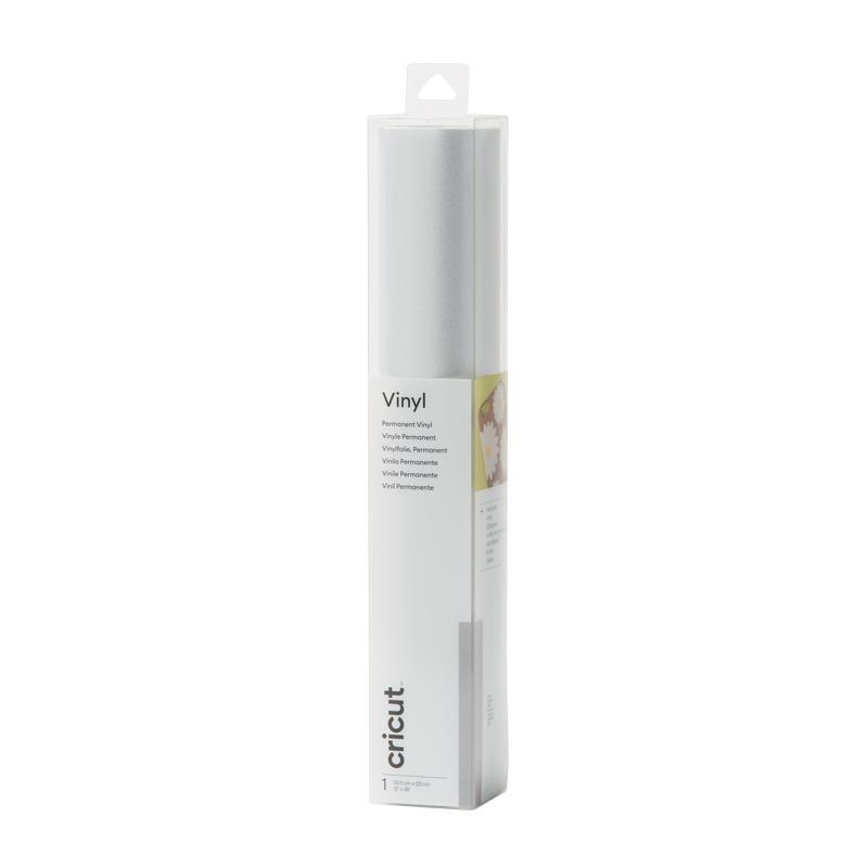 Cricut Vinilo adhesivo Shimmer Silver P. 12x48