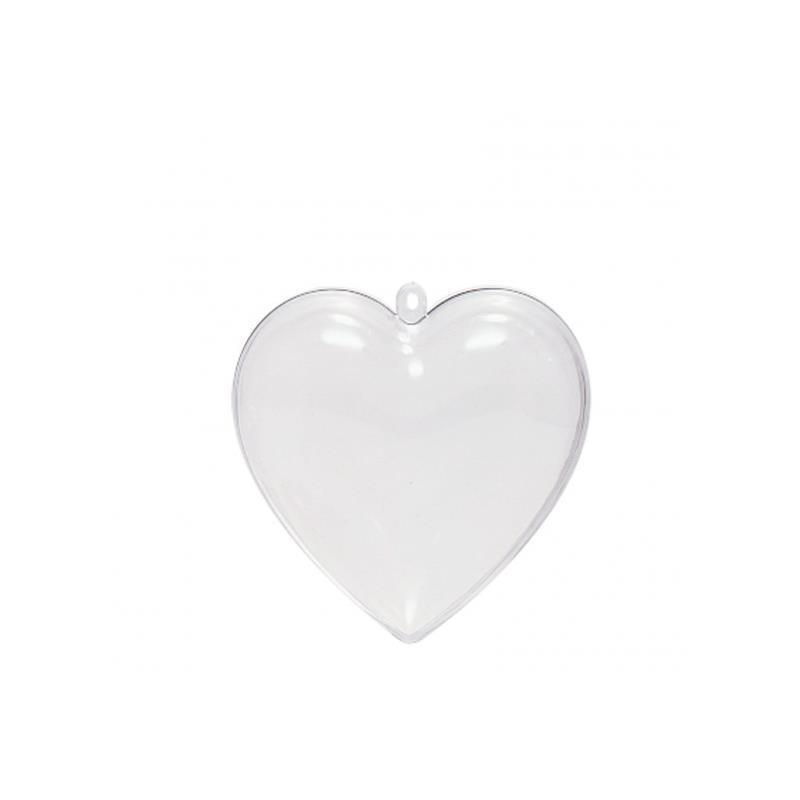 Colgante plástico Corazón 8cm