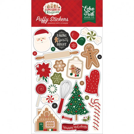 Stickers Puffy A Gingerbread Christmas