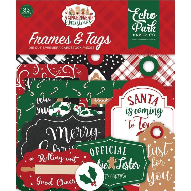 Die cuts Frames&Tags A Gingerbread Christmas